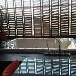 tub in balcony