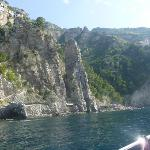 along amalfi coast