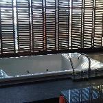 the tub in balcony