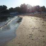 Spiaggia adiacente alla struttura