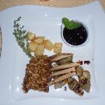 rack of lamb with pistachio crisp
