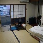 zicht op m'n kamer in Sendai/Bansuitei (JP)