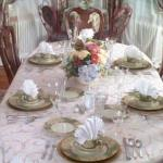 Dining in casual elegance