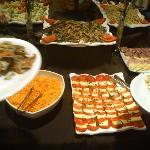 Ejemplo de mesa fría - cena