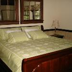 King bed in the Cottage