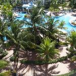 view from the room this is the party pool, the other pool on other side is for older ppl