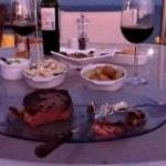 Sunset Dinner.Steak, Lobster, Pablano Pasta. Yummo!!!