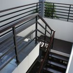 Steep staircase to 2nd level