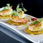 SHRIMP TOSTONES  avocado | habanero puree | scallion oil