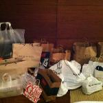Two persons bags after one day at Sawgrass Mills.