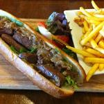 Steak baguette and frites