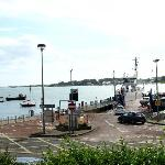 Strangford to Portaferry ferry coming into dock