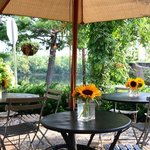 Outdoor patio along the Delaware