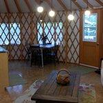 """""""Betty"""" Yurt - interior"""