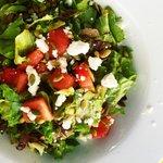 fresh local watermelon and feta salad