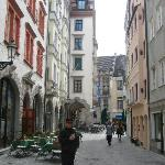 Street right next to the hotel (Pfisterstrasse)
