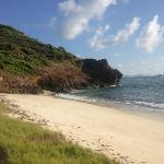 private beach a short walk/bike ride away