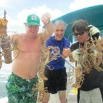 we caught our own lobster and conch!