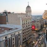 View from top floor lounge to Callao Square