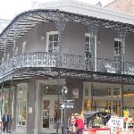 Ornate railings on buildings in New Orleans