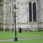 Clergy walking to the Salisbury Cathedral