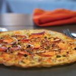 Pizza fine au saumon fumé