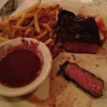 My second NYC Stripsteak with Sweet potato fried and Red Wine Sauce