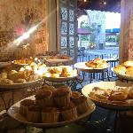 Buffet breakfast at Le Blasson