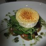 Baked goat cheese with salad