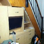 Stairs and Storage (closet not shown)