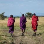 Out on Walking Safari with Masai