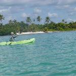 Free use of kayaks, can snorkel from the kayak
