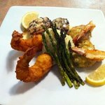 Crab stuffed shrimp with scallops