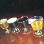sampler craft beer flight