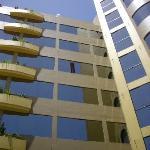 O prédio dos apartamentos