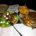 Salad and half chicken dinner