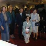 His excellency the Japanese ambassador Mr. Kouzuka and the deputy major in Delft Ms. Junius