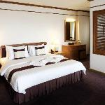 Presidental Suites(50-65 square metres)have air conditioner, minibar, cable TV, safety box, etc.