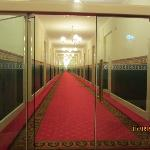Long hallway at Grand Hotel