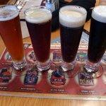 Beer samples at BJ's Restaurant