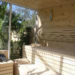 Einfach Genießen in der neuen Sauna