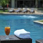 Relax at our poolside