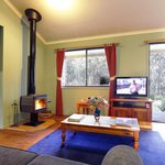 Enjoy the ambience of a cosy fireplace