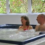 Hot tub - relaxing holiday treat
