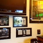 Stuart Sutcliffe and Beatles photos in the bar
