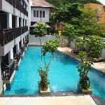 Buri Tara view of pool from balcony