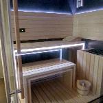 La sauna, nel nuovo Centro Benessere