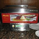 Automatic Pancake Machine at Breakfast Buffet