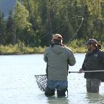 fishing Crescent Lake