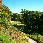 # 3 Hole down hill par three in the woods at Lawsonia